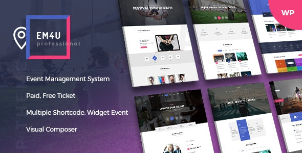 EM4U 1.4.2 – Events WordPress Theme for Booking Tickets