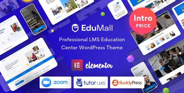 EduMall 2.4.1 – Professional LMS Education Center WordPress Theme