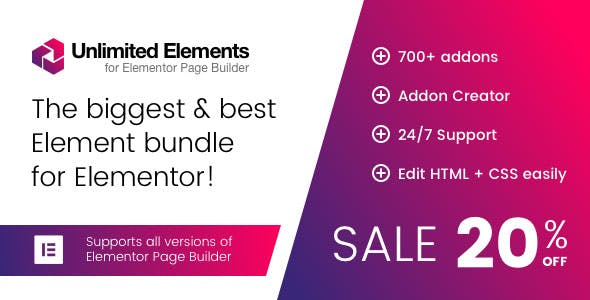 Unlimited Elements for Elementor Premium 1.4.66 Nulled