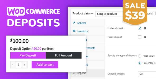 WooCommerce Deposits 3.0.13 – Partial Payments Plugin