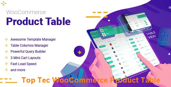 Top Tec WooCommerce Product Table